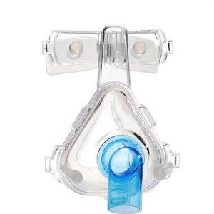 Mascarilla de Ventilación No Invasiva Desechable Nasal Adulto Mediano, con Codo Estándar, Almohadilla para Frente de Silicón y Arnés Reusable
