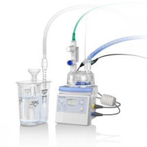 Sistema de Suministro para CPAP Burbuja, con circuito respiratorio calentado, cámara de autollenado desechable, válvula de liberación de presión y generador de CPAP Burbuja